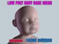 little baby girl base mesh 3d max