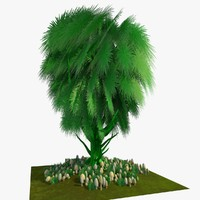 cartoon tree obj