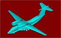 Antonov An-74 (Rev} STOL Transport Aircraft Solid Assembly Model