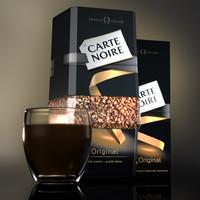 3d coffee carte noire