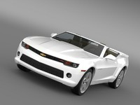 3d model chevrolet camaro rs convertible