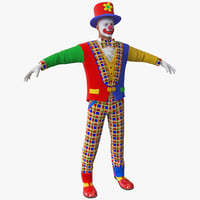 maya clown 2 rigged
