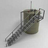 3d liquid tank model