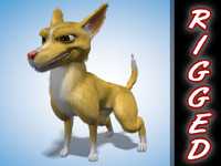 rigged cartoon dog animation 3d 3ds