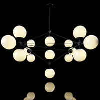 3d roll hill modo chandelier model