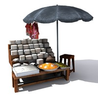 Umbrella Prasad Shop low poly