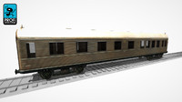 3ds max passenger wagon ws 16