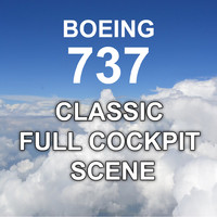 boeing 737 classic scene 3d max
