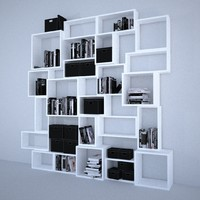 3d boxi shelf storage model