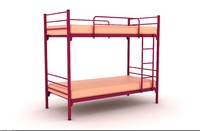 3d metal frame single bed model