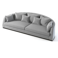 curved sofa flexform 3d model