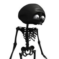 cartoon skeleton 3d 3ds