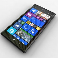 nokia lumia 1520 black 3d model