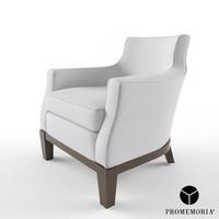 3d model promemoria aziza armchair