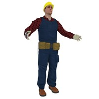 3d craftsman worker man model