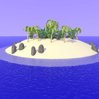 3d model 2nd realistic desert island