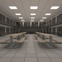 Prison block interior