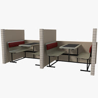 booths seating 3d max
