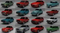 3d car pack 16 model