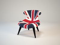 Andrew Martin Gund Chair Union Jack Denim
