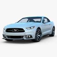 mustang 2015 3d model