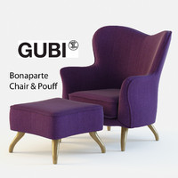 3ds max bonaparte chair pouf gubi