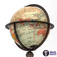 3d antique globe model