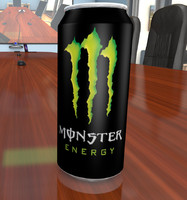cinema4d monster energy drink