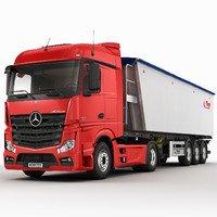 3d mercedes actros 2012 semi trailer