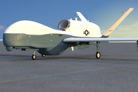 mc-4q triton unmanned drone 3d model