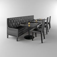 Restaurant Banquette, tables & chairs