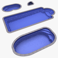 3d model 4 plastic pools