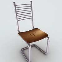 3d model steel chair