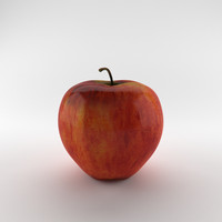 3d obj apple
