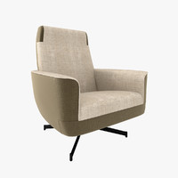 3ds max minotti parker armchair
