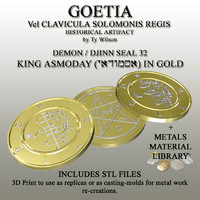 3d model seals goetia