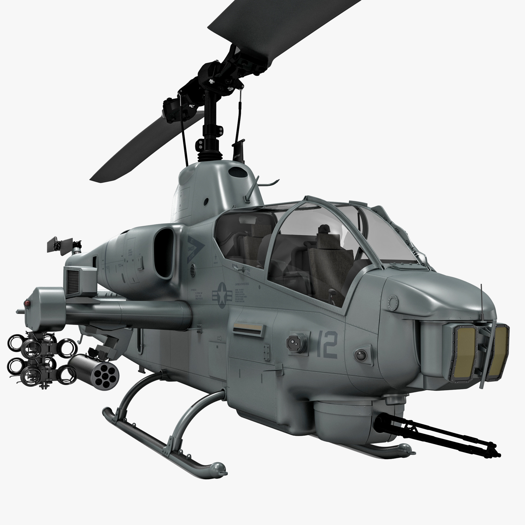 3d Model Of Bell Ah 1 Supercobra
