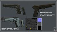 3d model beretta m9