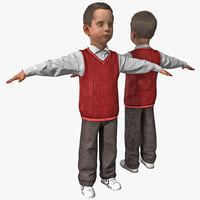 3d model of boy 2 version