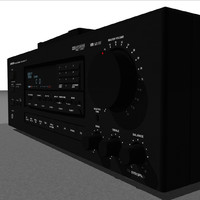 3d model stereo receiver onkyo
