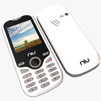niu lotto n104 white 3d model