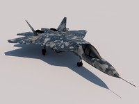 3d sukhoi pak fa fighter model