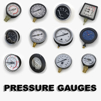 3d model pressure gauges tools 1 engine