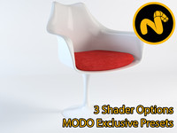 3d model saarinen tulip armchair