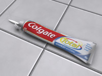 simple toothpaste 3d model