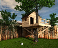 treehouse tree house 3d model