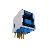 3d usb connector 3 typ model