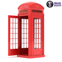 3d model of phone booth