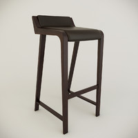 simple bar chair 3d model