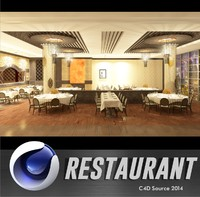 cinema4d restaurant interior